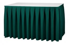 Tisch Skirting Boxpleat Dena, Farbe Grün 06