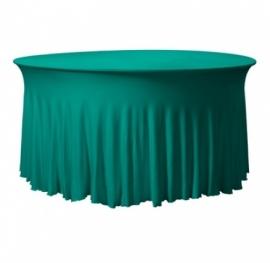 Tischhusse Grandeur Rund Stretch Dena Grün 135