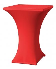 Stehtisch husse Rumba 80 x 80 cm Dena Stretch, Farbe Rot 130