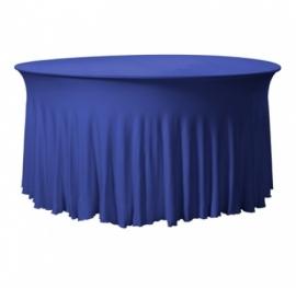 Tischhusse Grandeur Rund Stretch Dena Blau 132