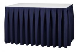 Tisch Skirting Boxpleat Dena, Farbe Dunkel Blau 11