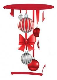 Stehtisch husse  Weihnachten Dena