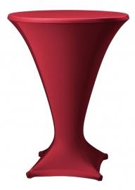 Stehtisch husse Cocktail D1 Dena Stretch, Farbe Bordeaux 189