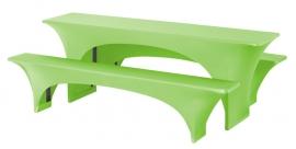 Biertisch Hussen Satz Fortune Dena Stretch, Farbe Apfelgrün 134