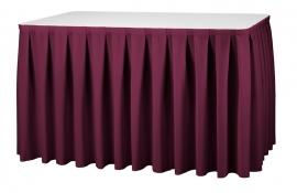 Tisch Skirting Boxpleat Dena, Farbe Bordeaux 09