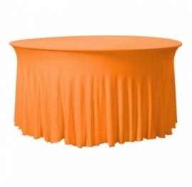 Tischhusse Grandeur Rund Stretch Dena Orange 127