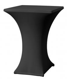 Stehtisch husse Rumba 80 x 80 cm Dena Stretch, Farbe Schwarz 138