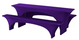 Biertisch Hussen Satz Fortune Dena Stretch, Farbe Violett 136