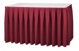 Tisch Skirting Boxpleat Dena, Farbe Rot 07