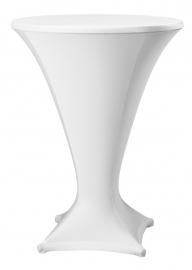 Stehtisch husse Cocktail D1 Dena Stretch, Farbe Weiss 181