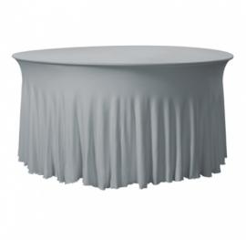 Tischhusse Grandeur Rund Stretch Dena Grau 125