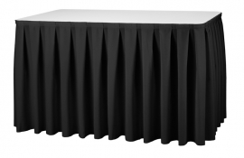 Tisch Skirting Boxpleat Dena, Farbe Schwarz 12