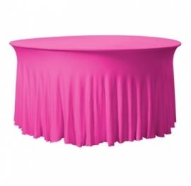 Tischhusse Grandeur Rund Stretch Dena Pink 128