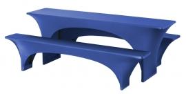 Biertisch Hussen Satz Fortune Dena Stretch, Farbe Blau 132