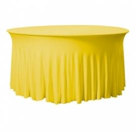 Tischhusse Grandeur Rund Stretch Dena Gelb 126