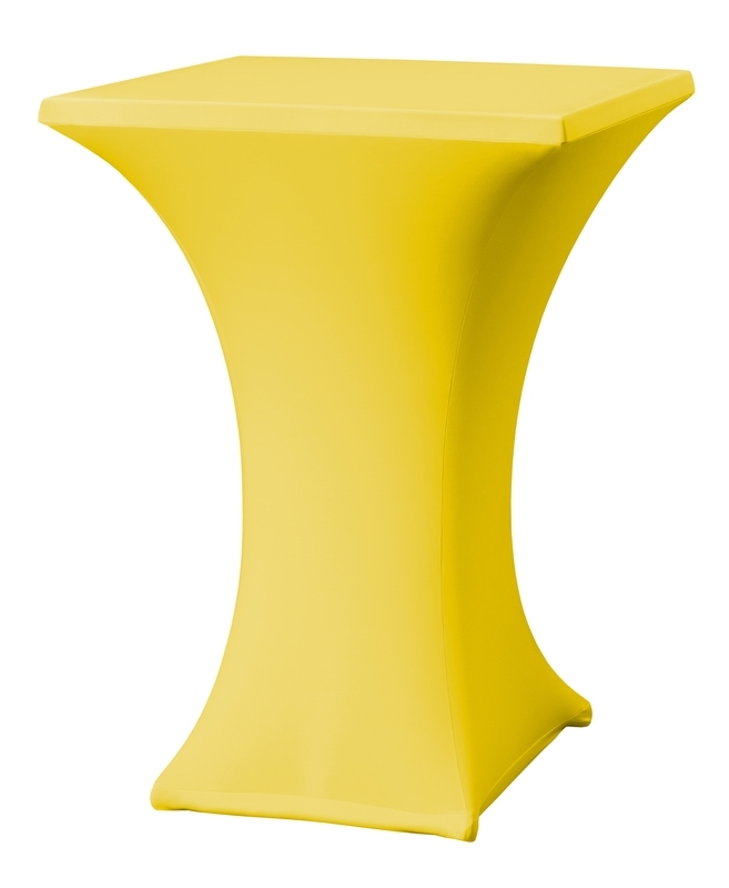 Stehtisch husse Rumba 80 x 80 cm Dena Stretch, Farbe Gelb 126
