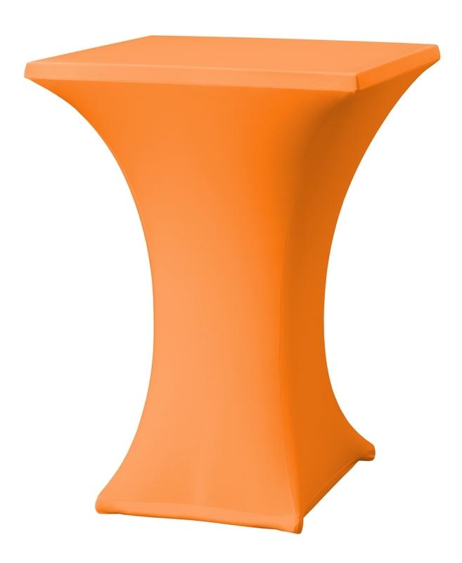 Stehtisch husse Rumba 80 x 80 cm Dena Stretch, Farbe Orange 127