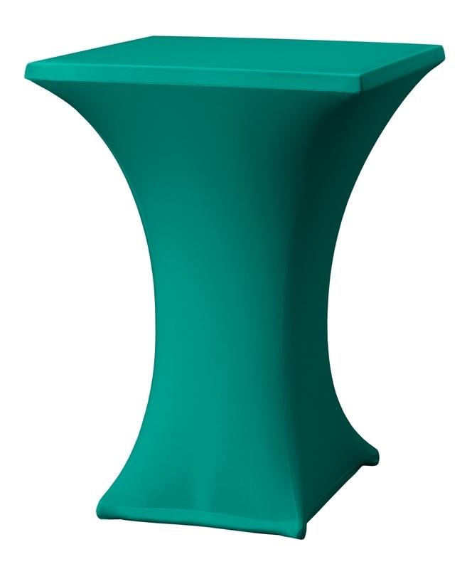 Stehtisch husse Rumba 80 x 80 cm Dena Stretch, Farbe Grün 135