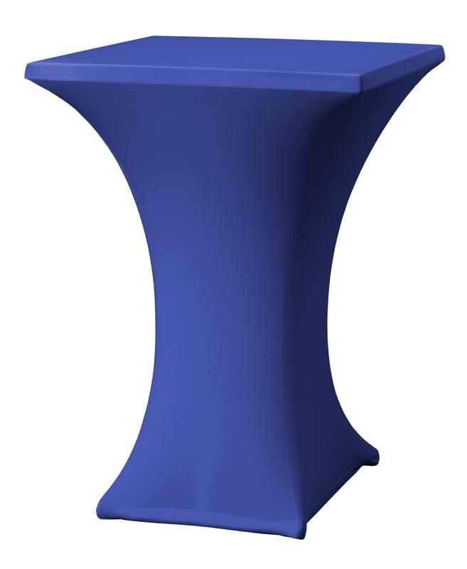 Stehtisch husse Rumba 80 x 80 cm Dena Stretch, Farbe Blau 132
