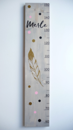 Cadeau geboortekaartje groeimeter