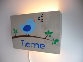 Lamp met naam vogel jongen