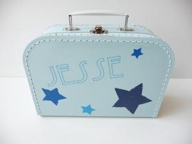 Koffertje met naam old ster sterren