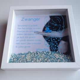 Zwangerschaps 3D lijst jongen eigen ontwerp van Mannie