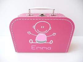 Koffertje met naam baby meisje