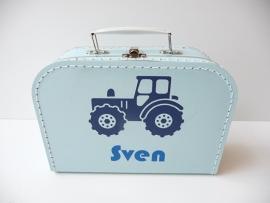 Koffertje met naam tractor