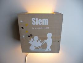 Kraamcadeau lamp van het kaartje