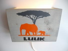 Lamp met naam olifant