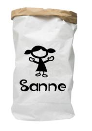 Paperbag met naam meisje