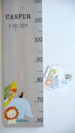 Groeimeter  van geboortekaartje kraamcadeau