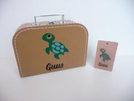 Koffertje van het geboortekaartje kraamkado
