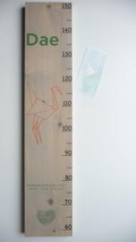 Groeimeter  van geboortekaartje kraam cadeau