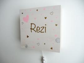 Muziekdoosje van geboortekaartje gepersonaliseerd cadeau Rezi