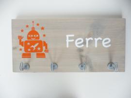 Kapstok robot met naam voor Ferre