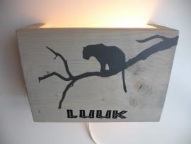 Lamp met naam luipaard
