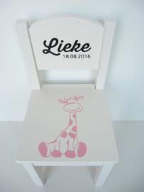Geboortestoeltje met geboortekaartje Lieke