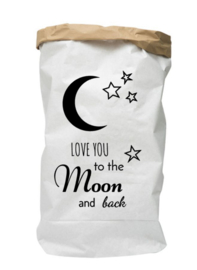 Paperbag love you to the moon and back