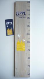 Groeimeter  van geboortekaartje kraamcadeau Jeppe