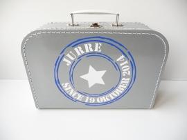 Koffertje stempel stoer jongen