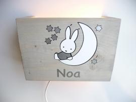 Lamp Nijntje met naam voor Noa