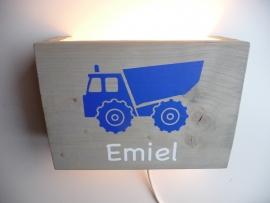 Lamp met naam vrachtwagen