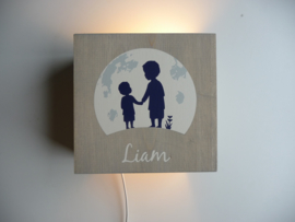 Lamp hout van het geboortekaartje kraamcadeau