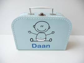Koffertje met naam baby jongen