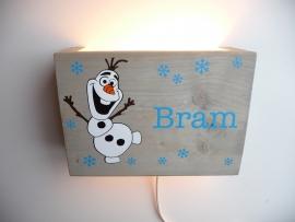 Lamp met naam Olaf Frozen