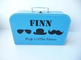 Koffertje met naam little man snor