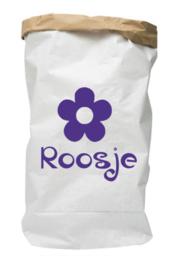 Paperbag met naam bloem