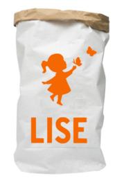 Paperbag van geboortekaartje Lise uniek kraamkado
